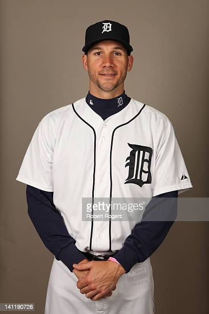 Chris Bootcheck of the Detroit Tigers poses during Photo Day on Tuesday February 28 2012 at Joker Marchant Stadium in Lakeland Florida