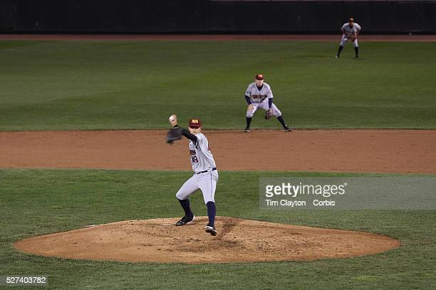 Chris Bootcheck pitching for the RailRiders during the Rochester Red Wings V The Scranton/WilkesBarre RailRiders Minor League ball game at Frontier...