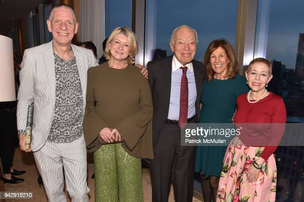 Chris Booth Martha Stewart Leonard Lauder Judy Glickman Lauder and Kathy Kaplan attend the Spring Party to benefit Aperture and to celebrate The...