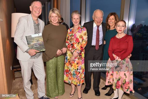 Chris Booth Martha Stewart Sarah McNear Leonard Lauder Judy Glickman Lauder and Kathy Kaplan attend the Spring Party to benefit Aperture and to...