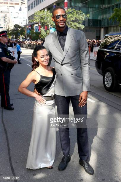 Chris Bosh and Adrienne Bosh attend 'The Carter Effect' premiere during the 2017 Toronto International Film Festival at Princess of Wales Theatre on...