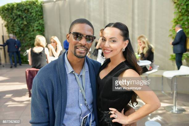 Chris Bosh and Adrienne Bosh attend the Vanity Fair New Establishment Summit at Wallis Annenberg Center for the Performing Arts on October 3 2017 in...