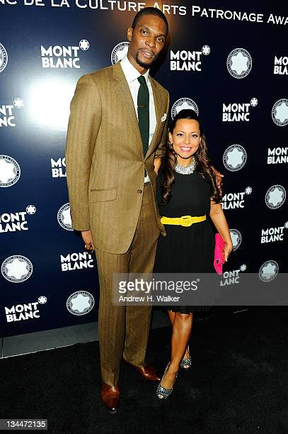 Chris Bosh and Adrienne Williams attends Montblanc Presents The Montblanc De La Culture Arts Patronage Award To Craig Robins at Moore Building on...
