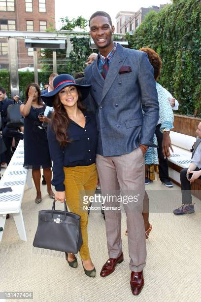 Chris Bosh and Adrienne Williams Bosh attend Tommy Hilfiger Men's Spring 2013 Collection at The Maritime Hotel on September 7 2012 in New York City