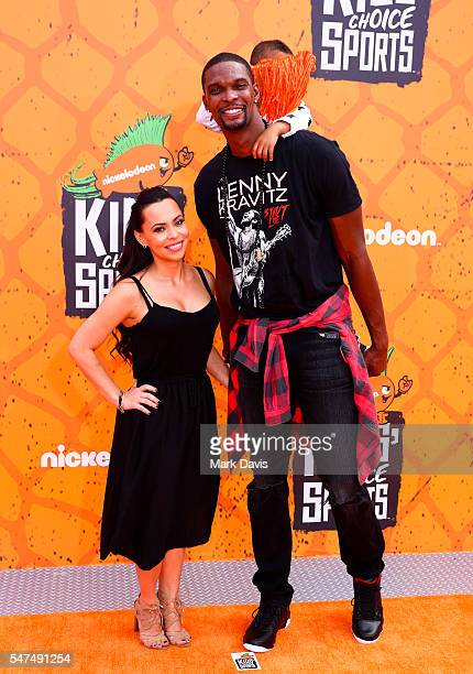 Chris Bosh attends the Nickelodeon Kids' Choice Sports Awards at UCLA's Pauley Pavilion on July 14 2016 in Westwood California