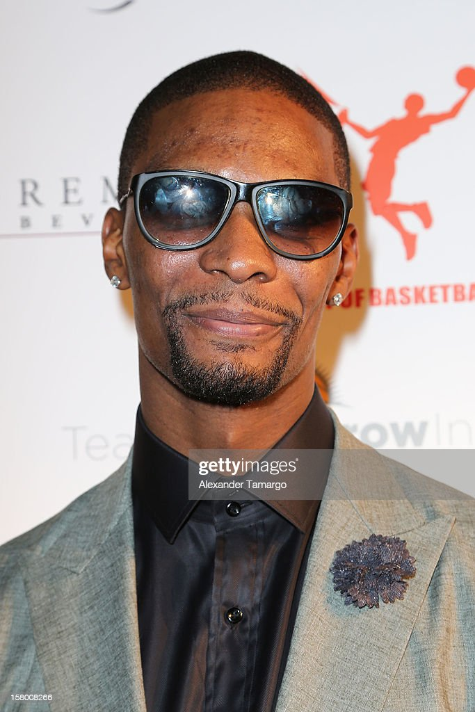 Chris Bosh makes an appearance as Premier Beverage Hosts Art Of Basketball: Heat Wave With Dwyane Wade & Chris Bosh on December 7, 2012 in Miami, Florida.