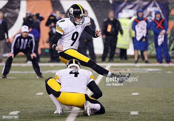 Chris Boswell of the Pittsburgh Steelers kicks a 35yard field goal to give the Pittsburgh Steelers a 2point lead in the fourth quarter against the...