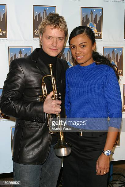 Chris Botti and Amel Larrieux during GRAMMYFEST 2003 'Songs of the City A Celebration of New York in Song' Presented by the Recording Academy and the...