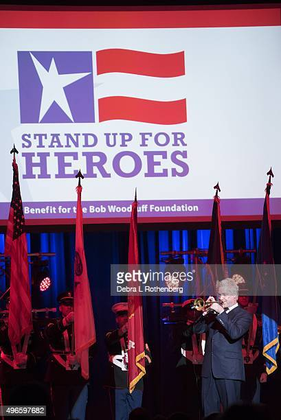 Chris Botti performs at the 9th Annual Stand Up For Heroes Event presented by the New York Comedy Festival and the Bob Woodruff Foundation at Madison...