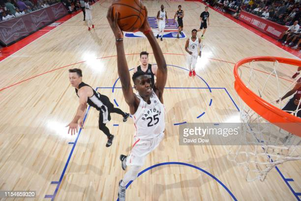 Chris Boucher of the Toronto Raptors dunks the ball against the San Antonio Spurs on July 8 2019 at the Cox Pavilion in Las Vegas Nevada NOTE TO USER...