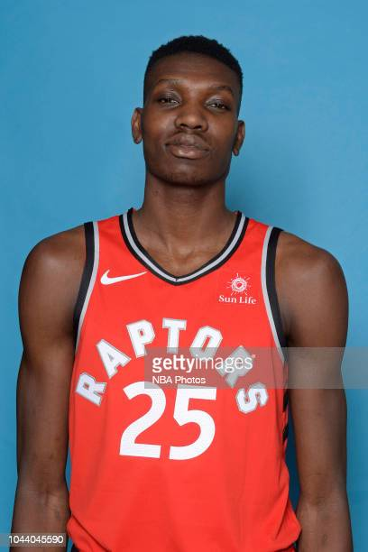 Chris Boucher of the Toronto Raptors poses for a head shot during media day at Scotiabank Arena on September 24 2018 in Toronto Canada NOTE TO USER...