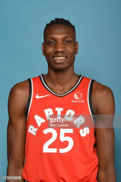 Chris Boucher of the Toronto Raptors poses for a head shot during media day on September 28 2019 at Scotiabank Arena in Toronto Ontario Canada NOTE...