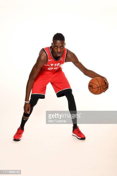 Chris Boucher of the Toronto Raptors poses for a portrait during media day on September 28 2019 at Scotiabank Arena in Toronto Ontario Canada NOTE TO...