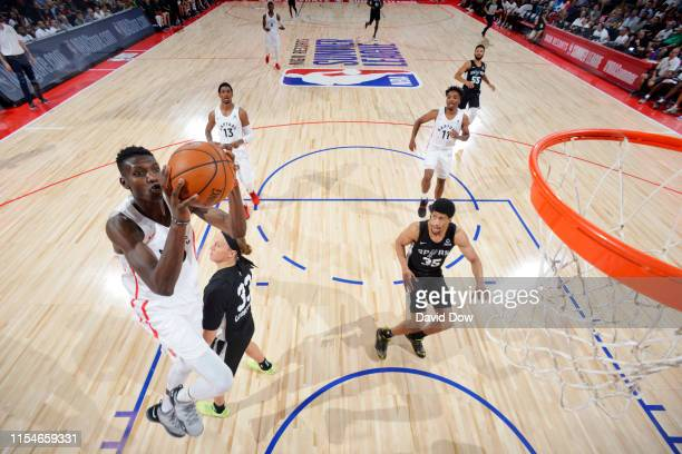 Chris Boucher of the Toronto Raptors shoots the ball against the San Antonio Spurs on July 8 2019 at the Cox Pavilion in Las Vegas Nevada NOTE TO...