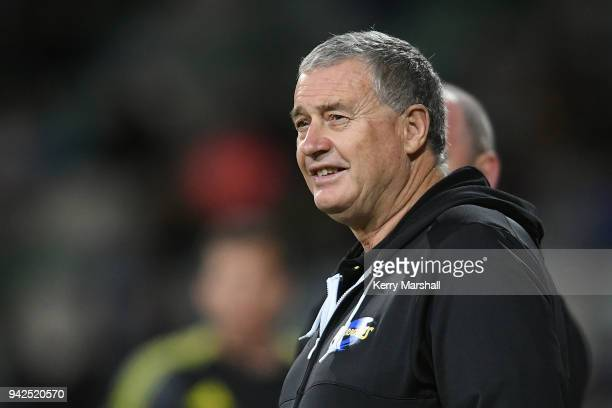 Chris Boyd head coach of the Hurricanes before the round eight Super Rugby match between the Hurricanes and the Sharks at McLean Park on April 6 2018...