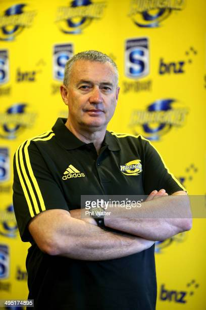 Chris Boyd poses for a portrait after being named as the Hurricanes Head Coach for 2015 at the Rendezvous Grand Hotel on June 2 2014 in Auckland New...