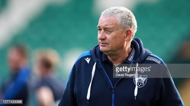 Chris Boyd the Northampton Saints director of rugby looks on during the Gallagher Premiership Rugby match between Northampton Saints and Sale Sharks...