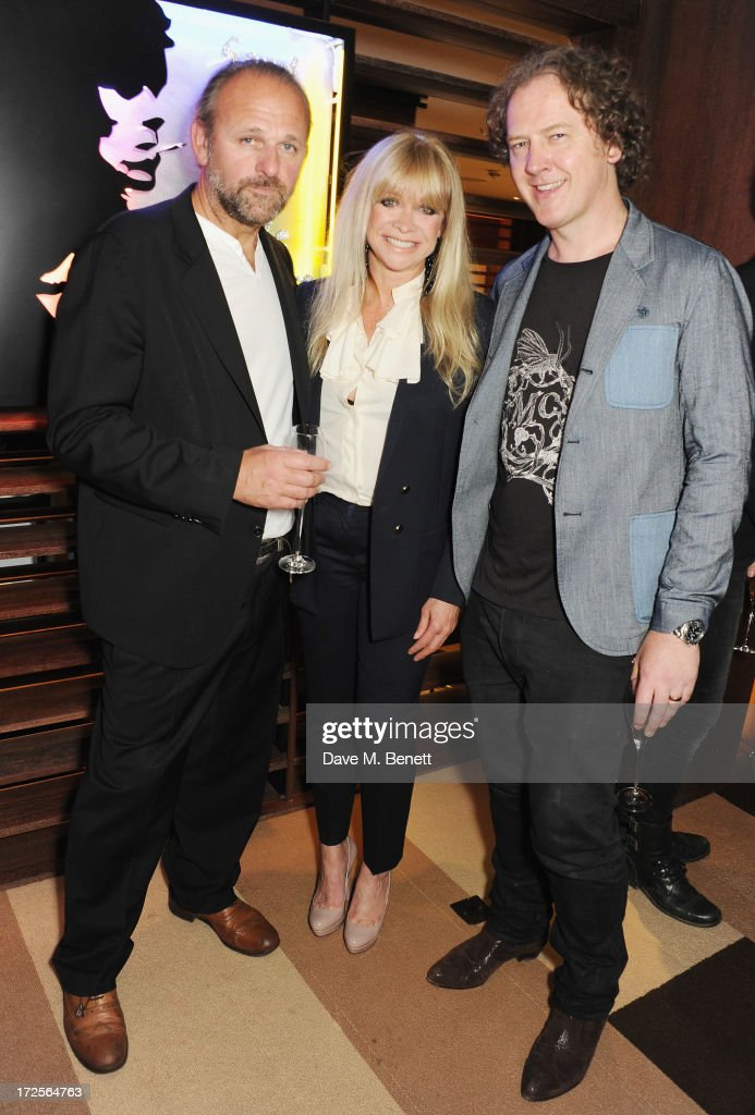Chris Bracey, Jo Wood and Christian Furr attend Christian Furr and Chris Bracey 'Staying Alive' Private View at 45 Park Lane on July 3, 2013 in London, England.