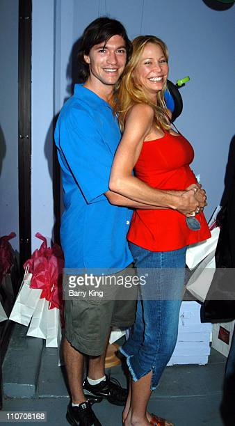 Chris Brewster and Kathleen Kinmont during Sugar Baby Kid's Boutique Store Opening at Sugar Baby in Los Angeles California United States