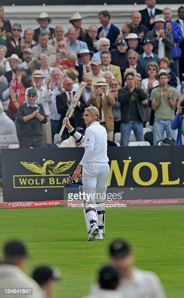 Chris Broad after making 64 England v New Zealand 3rd Test Trent Bridge June 2008