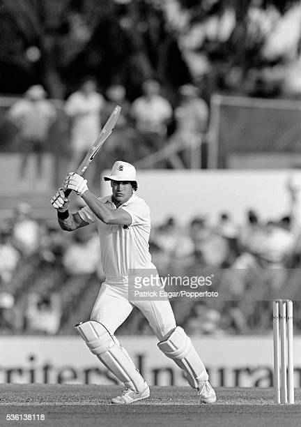 Chris Broad of England batting during the 2nd Ashes Test match between Australia and England at Perth Australia 28th November 1986