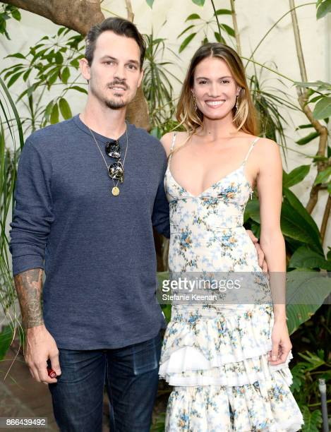 Chris Brock and Laura Vassar attend CFDA/Vogue Fashion Fund Show and Tea at Chateau Marmont at Chateau Marmont on October 25 2017 in Los Angeles...