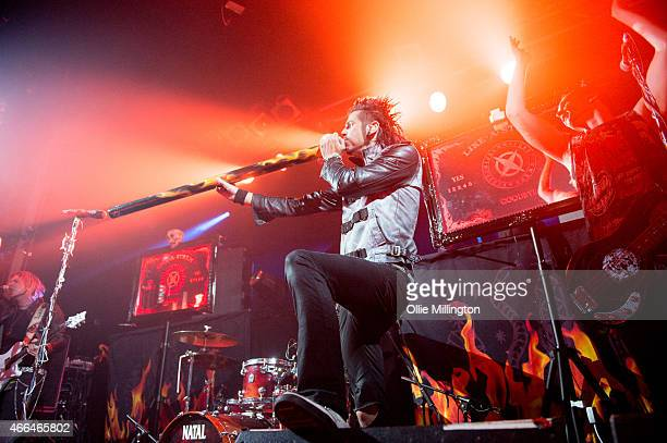 Chris Brooks of Like A Storm performs on stage at Electric Ballroom on March 15 2015 in London United Kingdom