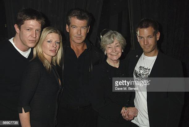 Chris Brosnan Charlotte Brosnan Actor Pierce Brosnan and his mother May Carmichael and Sean Brosnan attend the after show party following the UK...