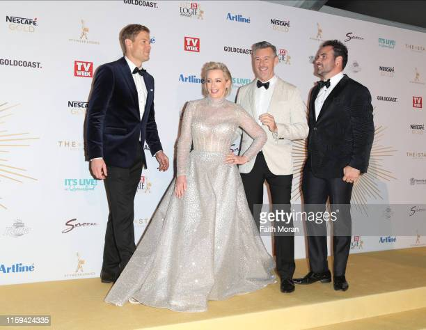 Chris Brown Amanda Keller Barry Du Bois and Miguel Maestre arrive at the 61st Annual TV WEEK Logie Awards at The Star Gold Coast on June 30 2019 on...