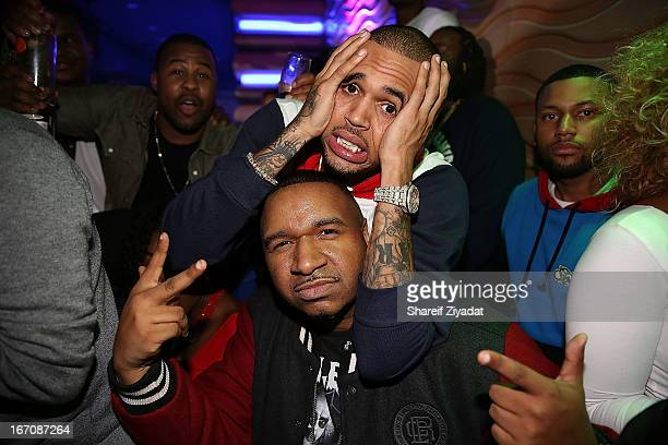 Chris Brown and DJ Suss One attend the 2nd Annual DJ Prostyle's Birthday Bash after party at Stage 48 on April 16 2013 in New York City