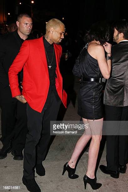 Chris Brown and guest attend the PUNK Chaos To Couture Costume Institute Gala after party at The Standard hotel on May 6 2013 in New York City