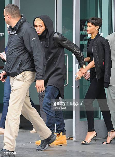 Chris Brown and Rihanna are seen on December 25 2012 in Los Angeles California