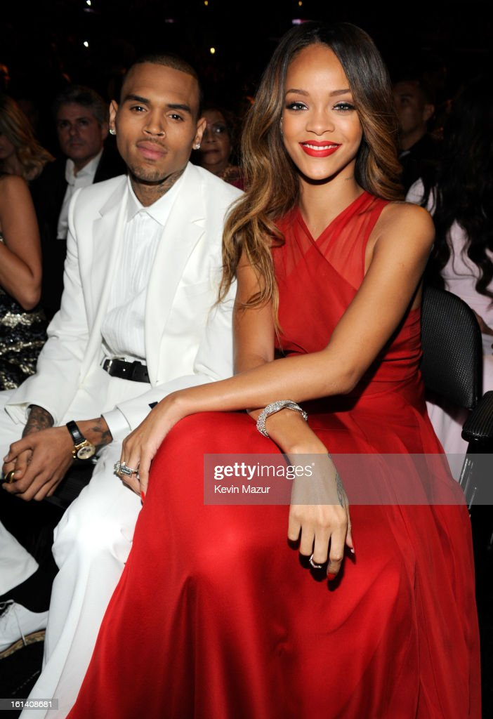Brown Chris and rihanna grammys pictures