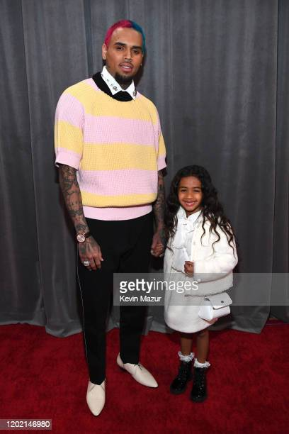 Chris Brown and Royalty Brown attend the 62nd Annual GRAMMY Awards at STAPLES Center on January 26, 2020 in Los Angeles, California.