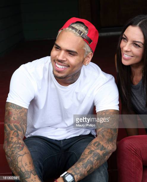 Chris Brown and Terri Seymour attend Jenesse 'Back To School Fall Festival' on September 5 2012 in Los Angeles California