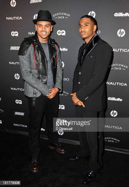 Chris Brown and Trey Songz attend GQ's The Gentlemen's Ball at The Edison Ballroom on October 27 2010 in New York City