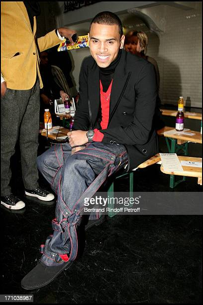 Chris Brown at Jean Paul Gaultier's Menswear Fashion Show Autumn Winter 2010 / 2011 Collection