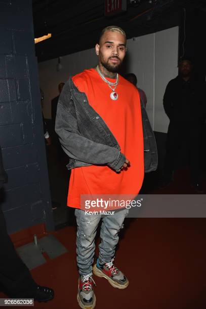 "Chris Brown attends Demi Lovato ""Tell Me You Love Me"" World Tour at The Forum on March 2, 2018 in Inglewood, California."
