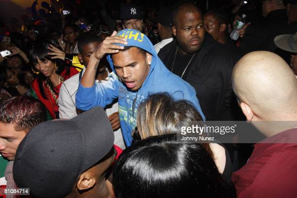 Chris Brown attends his 19th Birthday Party May 13 2008 at Rebel NYC in New York