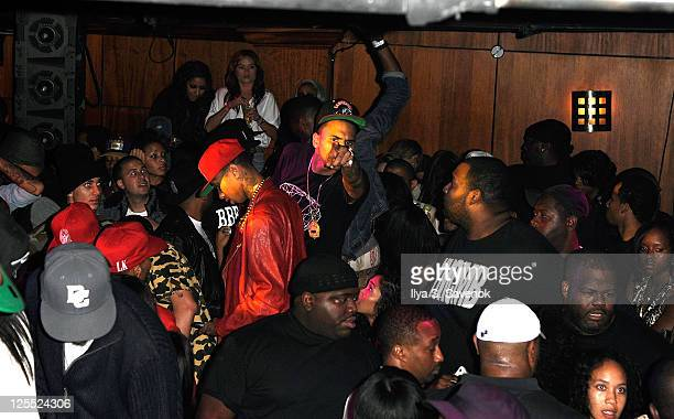Chris Brown attends John Wall's 21st birthday party at Love Nightclub on September 17 2011 in Washington DC