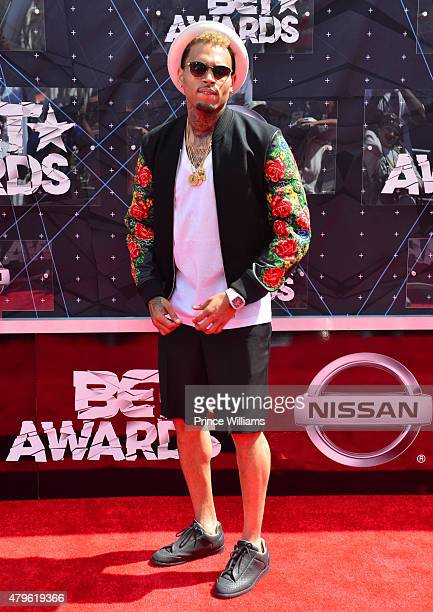 Chris Brown attends the 2015 BET Awards on June 28 2015 in Los Angeles California