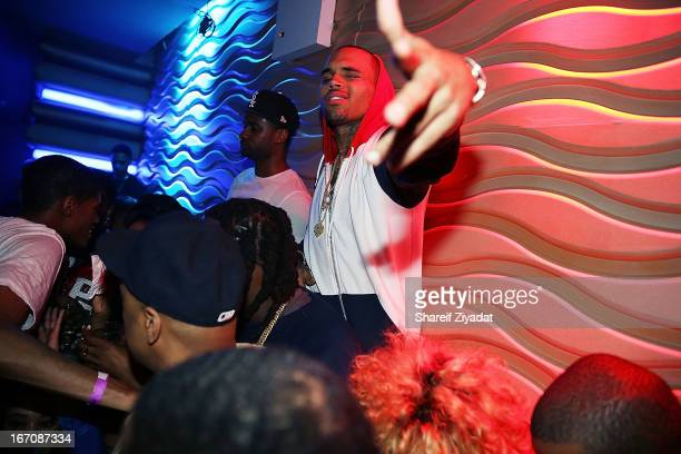 Chris Brown attends the 2nd Annual DJ Prostyle's Birthday Bash after party at Stage 48 on April 16 2013 in New York City