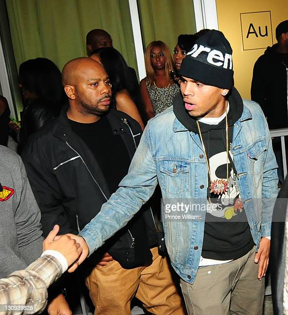 Chris Brown attends The 4th Annual Thanksgiving Carnival Turkey Giveaway on November 23 2010 in Atlanta Georgia