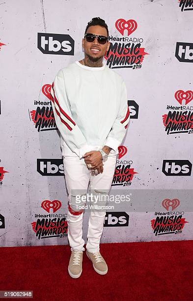 Chris Brown attends the iHeartRadio Music Awards at the Forum on April 3 2016 in Inglewood California