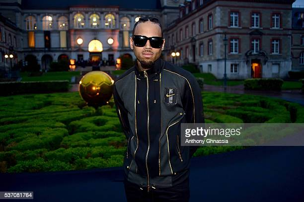 Chris Brown attends the NikeLab X Olivier Rousteing Football Nouveau Collection Launch Party at Cite Universitaire on June 1 2016 in Paris France