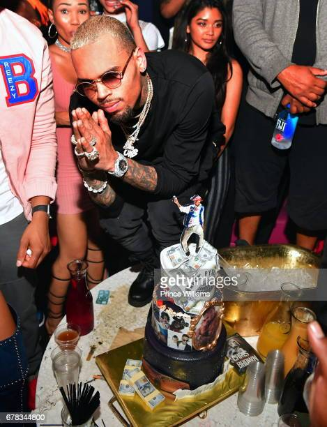 Chris Brown attends The Official Concert After Party Hosted By Chris Brown at Gold Room on May 3 2017 in Atlanta Georgia