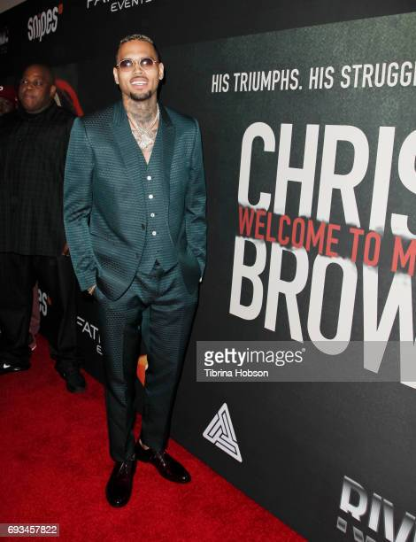 Chris Brown attends the premiere of Fathom Events 'Chris Brown Welcome To My Life' at Regal LA Live Stadium 14 on June 6 2017 in Los Angeles...
