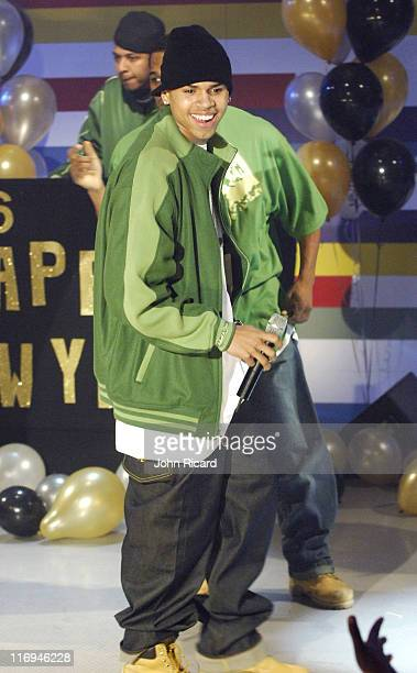 Chris Brown during BET's 106 Park Taping for New Year's Eve Broadcast December 16 2005 at BET Studios in New York City New York United States