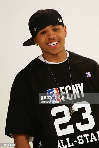 Chris Brown during BET's Rip the Runway 2007 Promo Shoot March 5 2007 at City Stage in New York City New York United States