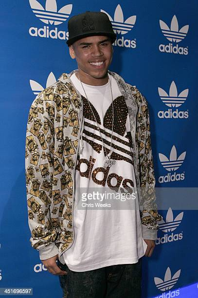 Chris Brown during Chris Brown Jive Records and Adidas Host PreBET Awards VIP Party at Adidas Originals at adidas Originals in Los Angeles California...